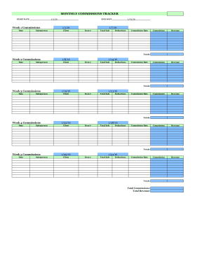 Monthly Employer Commissions Timesheet
