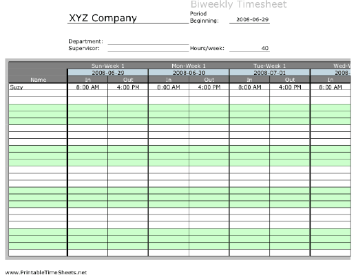 Biweekly multiple employee timesheet with overtime for Multiple employee timesheet template free