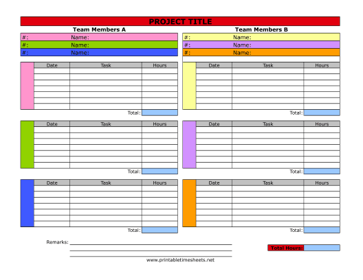 Project Timesheet